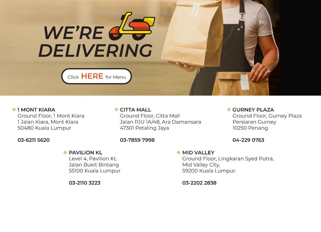 We're Delivering